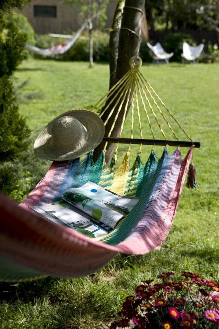 gartenmöbel komfortable hängematte im hinterhof