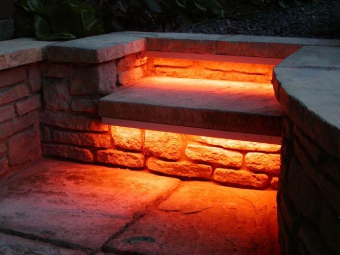 gartentreppe mit led outdoor beleuchtung