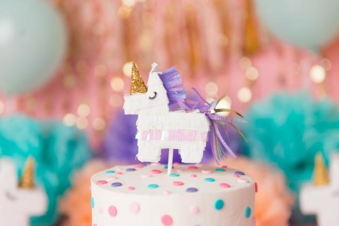 geburtstagskuchen torte kindergeburtstag ideen einhorn