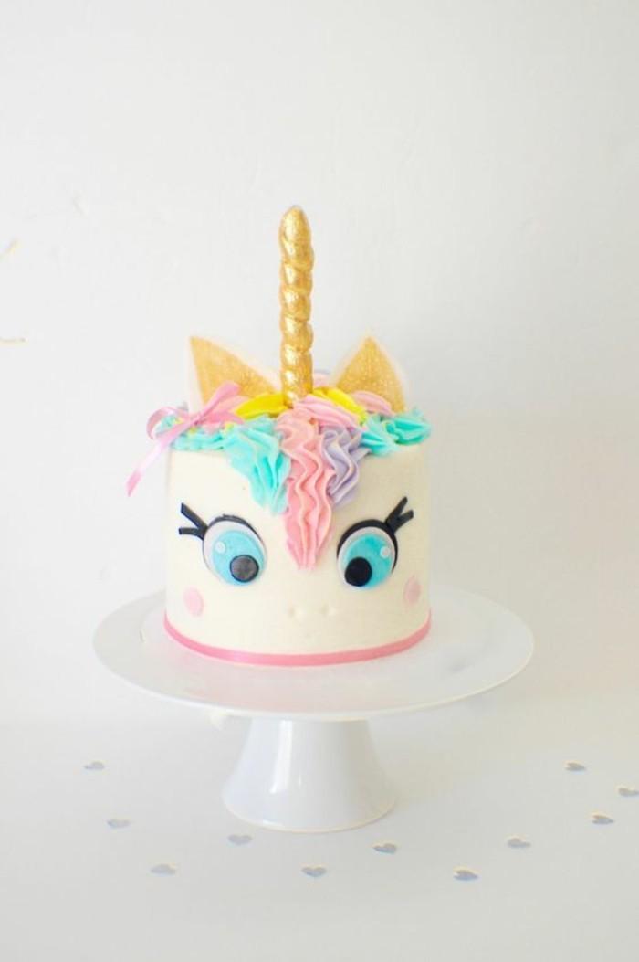geburtstagsparty kleinkinder ideen einhorn torte