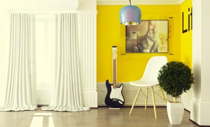 42 Sommerliche Beispiele Für Gelbtöne Und Akzente In Der Raumgestaltung |  Einrichtungsideen ...