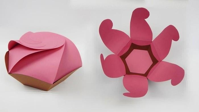 geschnkbox basteln geschnkideen diy deko upcycling ideen lotus