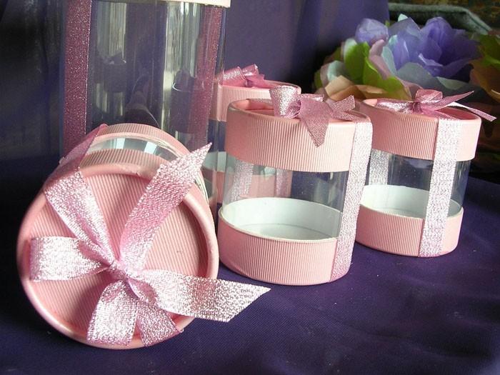 geschnkbox basteln geschnkideen diy deko upcycling ideen tasse selber gestalten rosa