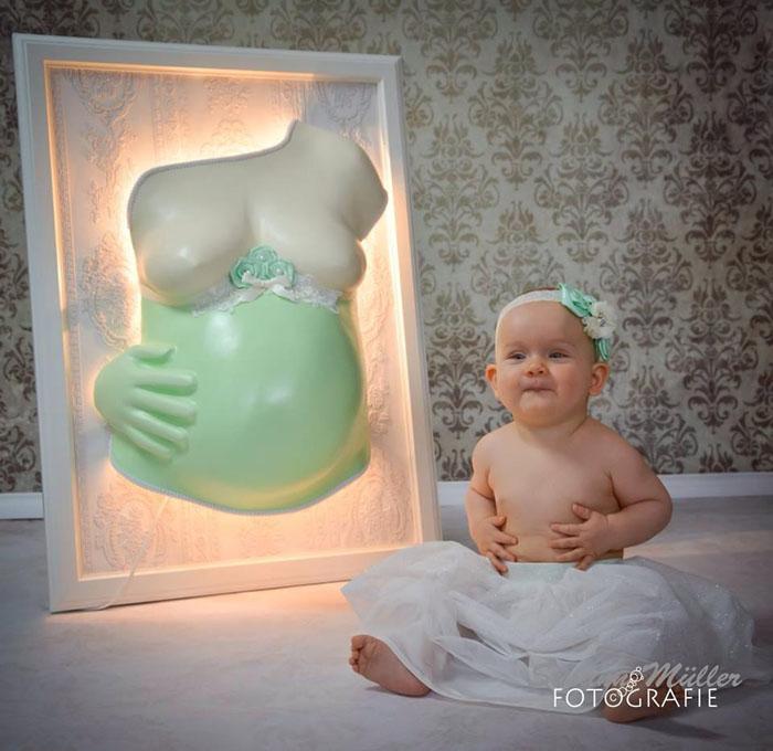 gipsabdruck babybauch das wunder des lebens