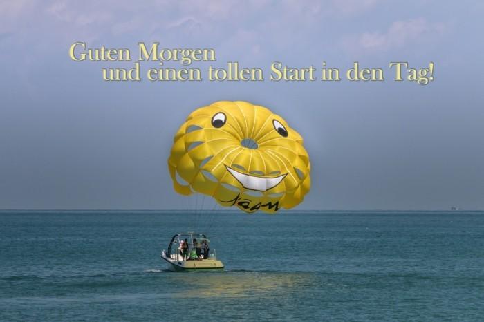 grusskarte guten morgen parasailing smiley