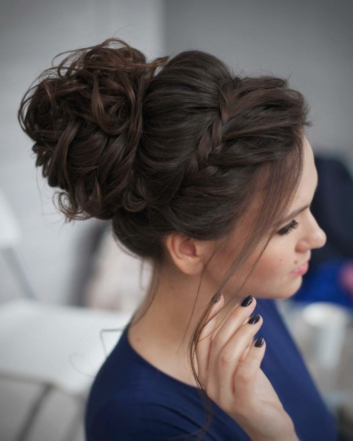 hochsteckfrisur elegante idee fürlanges haar