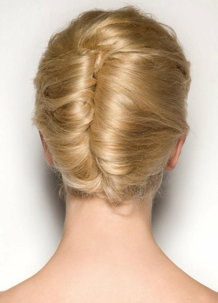 hochsteckfrisuren stilvoll und schlicht die haare stylen