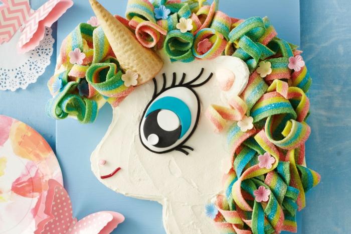 idee einhorn torte kindergeburtstag feiern