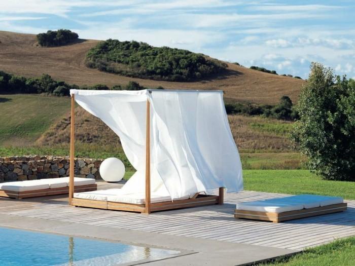 33 ideen f r den garten mit gardinen die erholungsecke im sommer muss ber alle extras verf gen. Black Bedroom Furniture Sets. Home Design Ideas