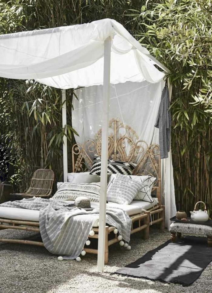 ideen für den garten gartenbett mit baldachin gestalten