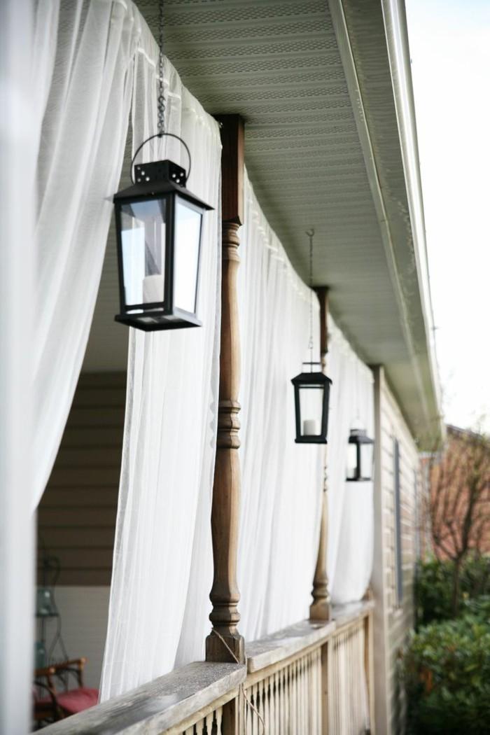 ideen für den garten helle luftige gardinen schaffen eine frische atmosphäre