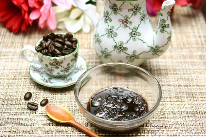 kaffe kokosöl gesichtspeeling selber machen