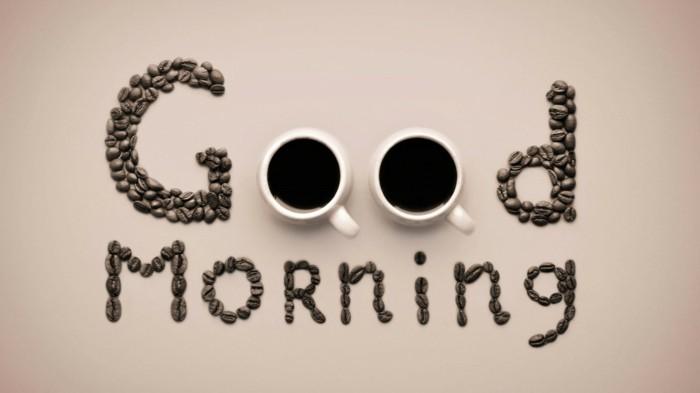 kaffeetrinker kaffeetassen kaffeebohnen good morning