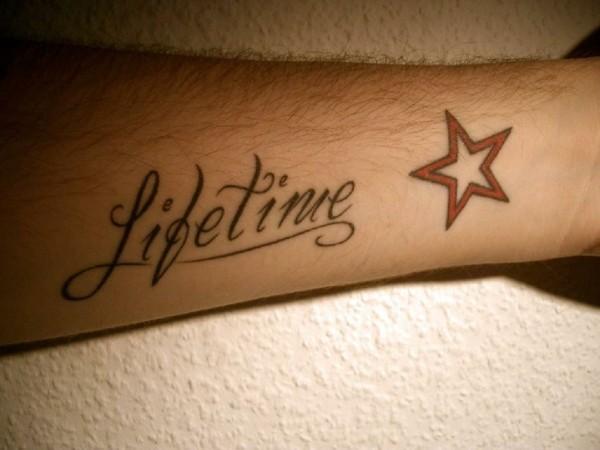lifetime stern tattoo unterarm tätowierung