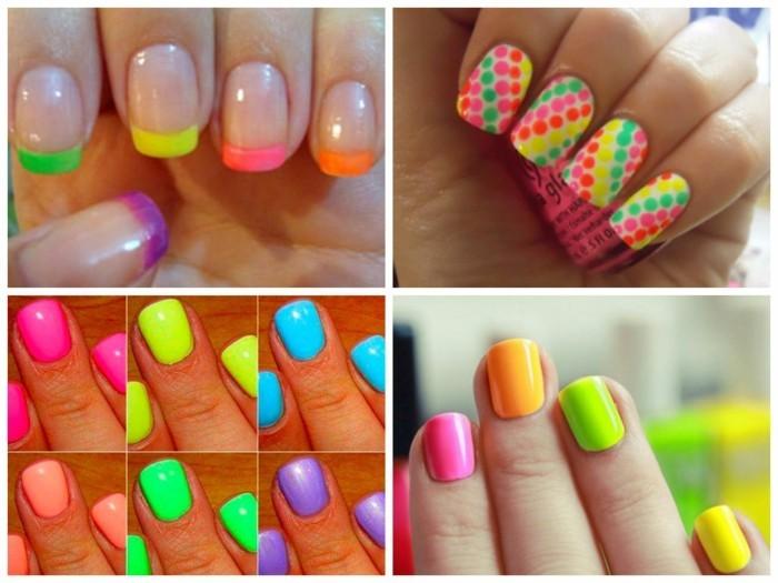 neon fingernägel sommer nageldesign