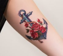 anker tattoo motive 54 coole ideen f r ihre n chste t towierung. Black Bedroom Furniture Sets. Home Design Ideas