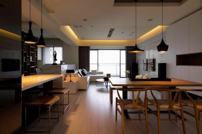 offene küche in stilvollen farben und texturen