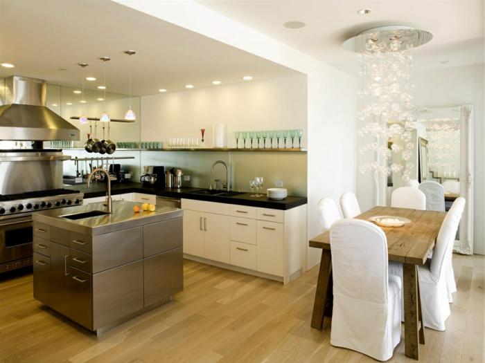 offene küche kleiner kochbereich mit essbereich kombinieren
