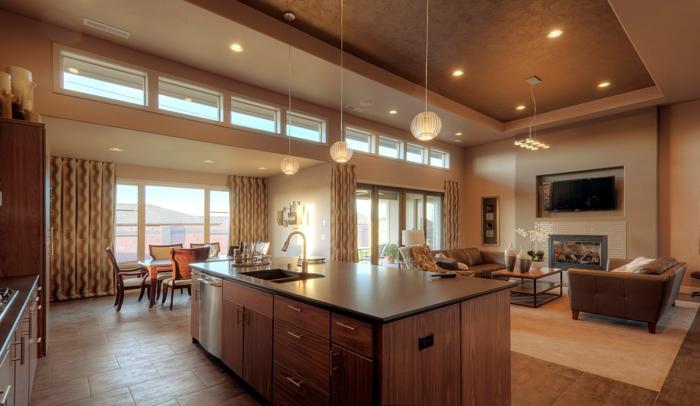 offene küche stilvolle farben kombinieren und für elegante deko sorgen