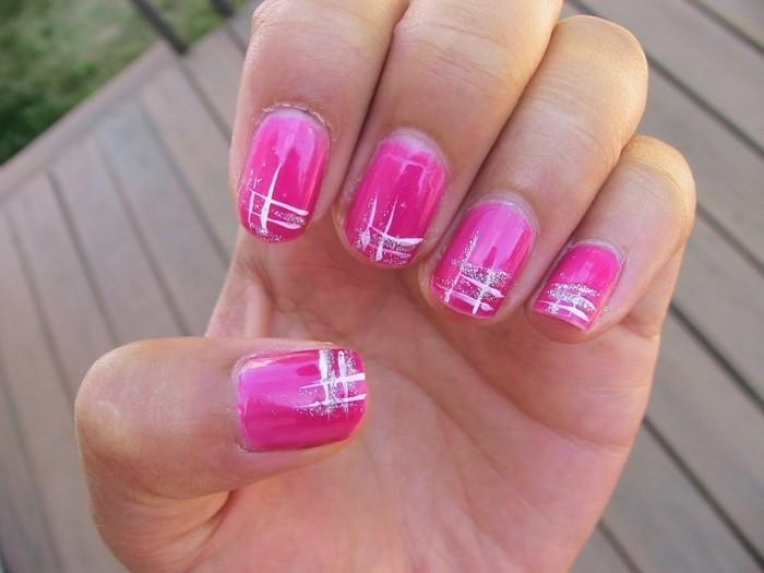 pinke sommer fingernägel ideen nagellack nageldesign sommer