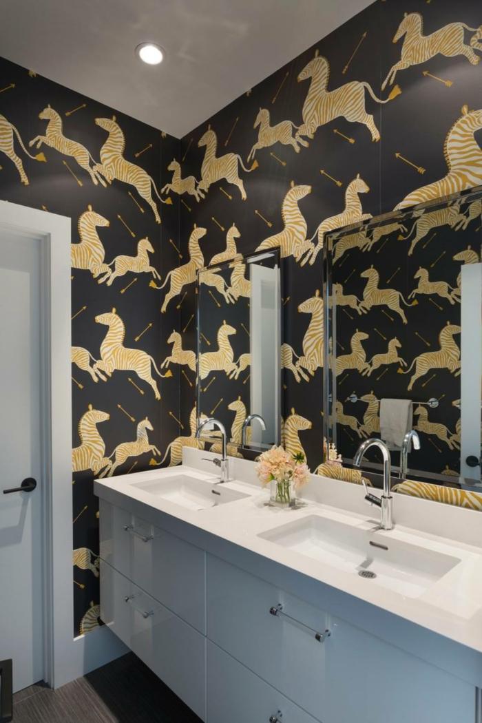 raumdesign ausgefallene ideen für das moderne badezimmer tapeten mit herrlichem muster