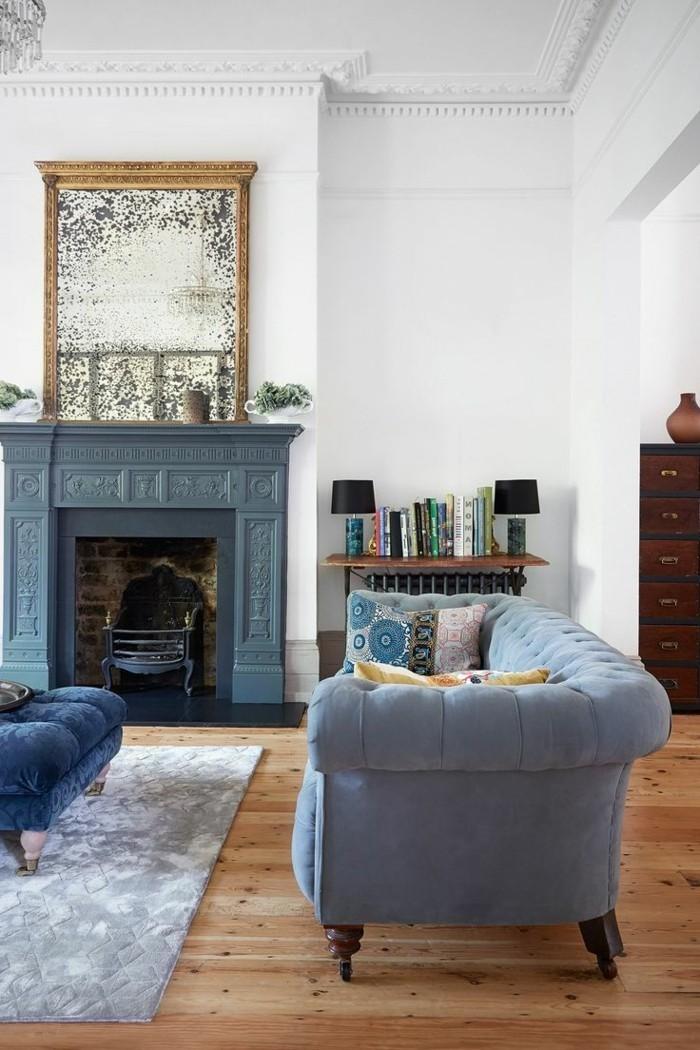 Raumdesign Ausgefallene Ideen Für Das Wohnzimmer Extravagantes Gemälde über  Dem Kamin Jedes Raumdesign Braucht Das Gewisse Etwas, Um Mal Besonders ...