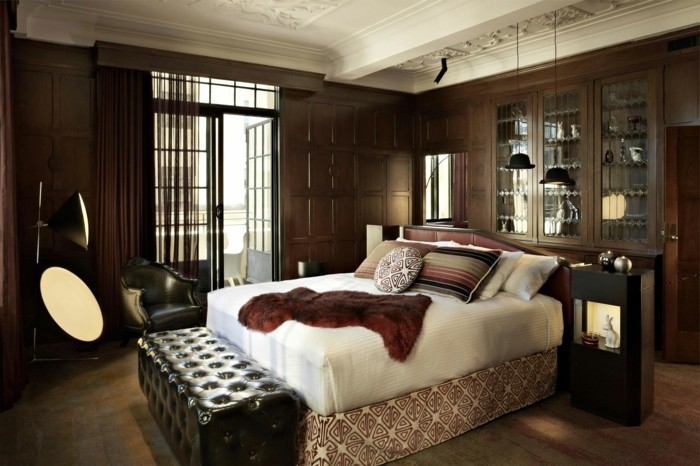 schlafzimmer ideen dunkles innendeisgn und schlafzimmerbank