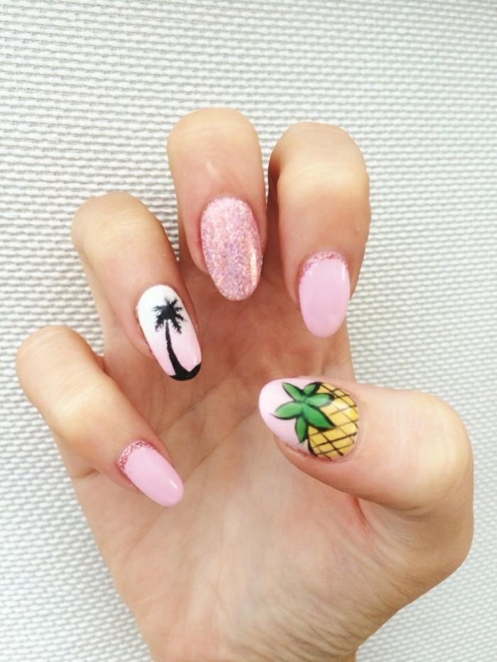 sommernägel frische strandmotive in schönen farben