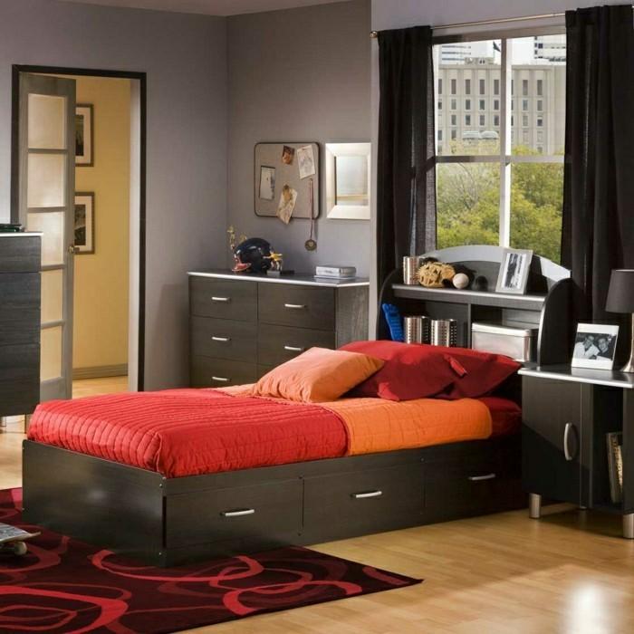 stauraum im schlafzimmer schaffen funktionales bettkopfteil