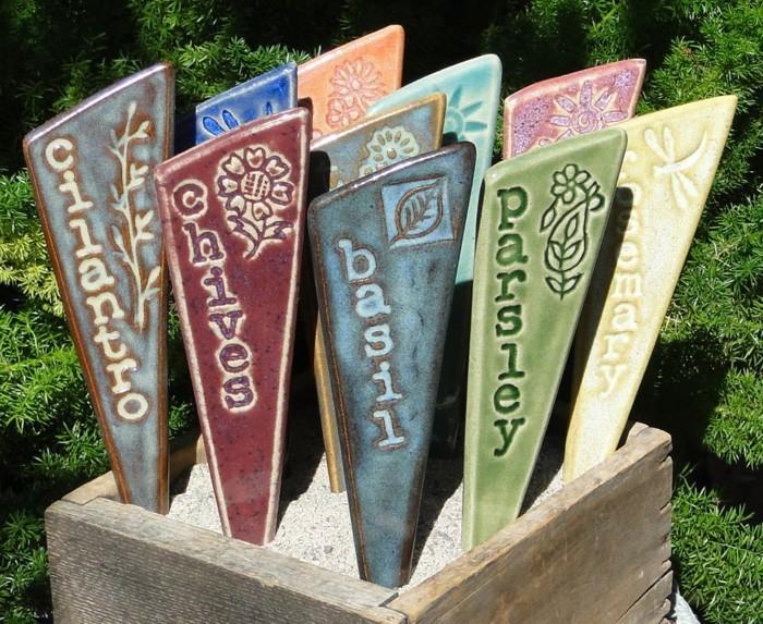 töpfern ideen kreative gestaltung diy ideen diy deko selber machen handwerk gartenpflanzen beschriften