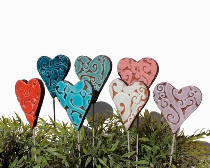 töpfern ideen kreative gestaltung diy ideen diy deko selber machen handwerk keramikherzen