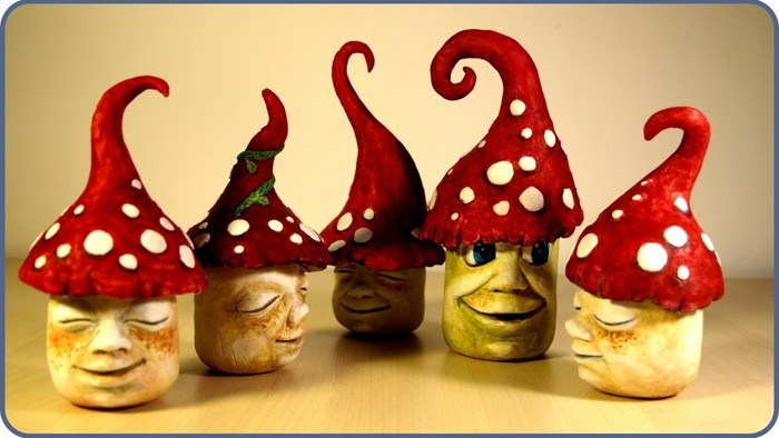 töpfern ideen kreative gestaltung diy ideen diy deko selber machen handwerk keramikpilze
