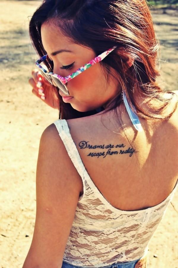tattoo spruch nacken schulter tätowierung