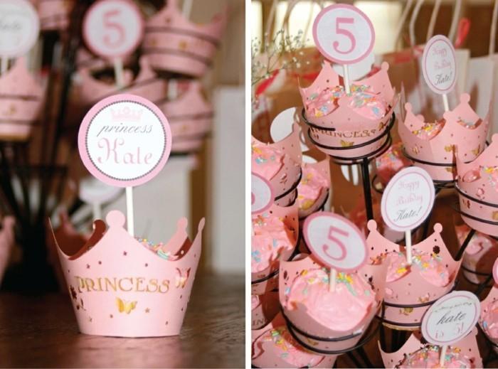 tischdeko geburtstag cupcakes als dekoration