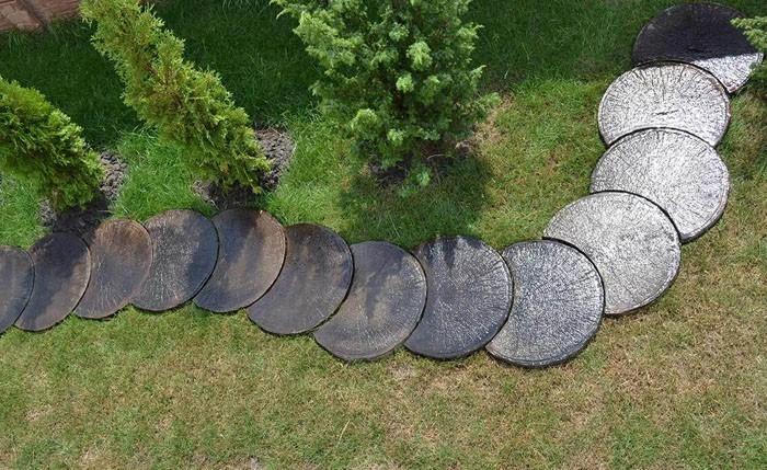 trittsteine runde platten