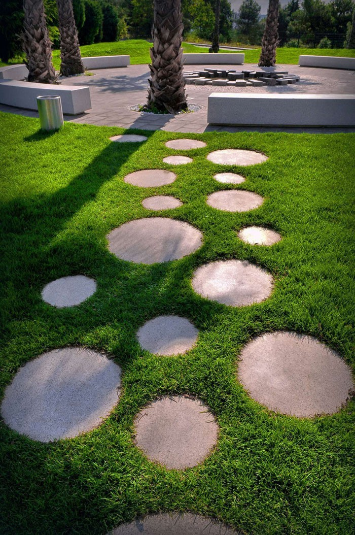 trittsteine runde trittplatten