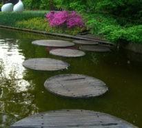 Trittsteine- 42 Gartengestaltung Ideen rund um die Gartenwege