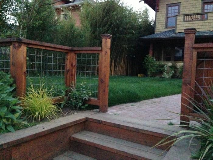 vorgarten schlicht rustikal