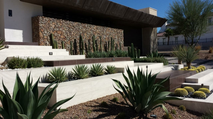 vorgarten tropisch minimalistisch