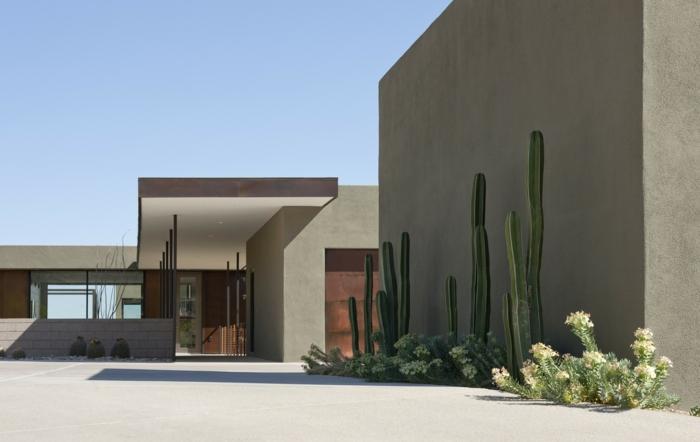 vorgartengestaltung exotisch minimalistsch