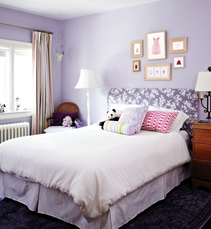 wandfarben lavender benjamin moore im schlafzimmer
