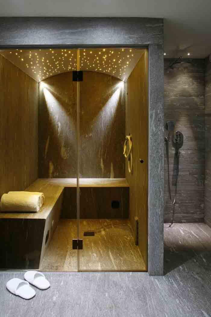 wandfliesen badgestaltung naturstein sauna