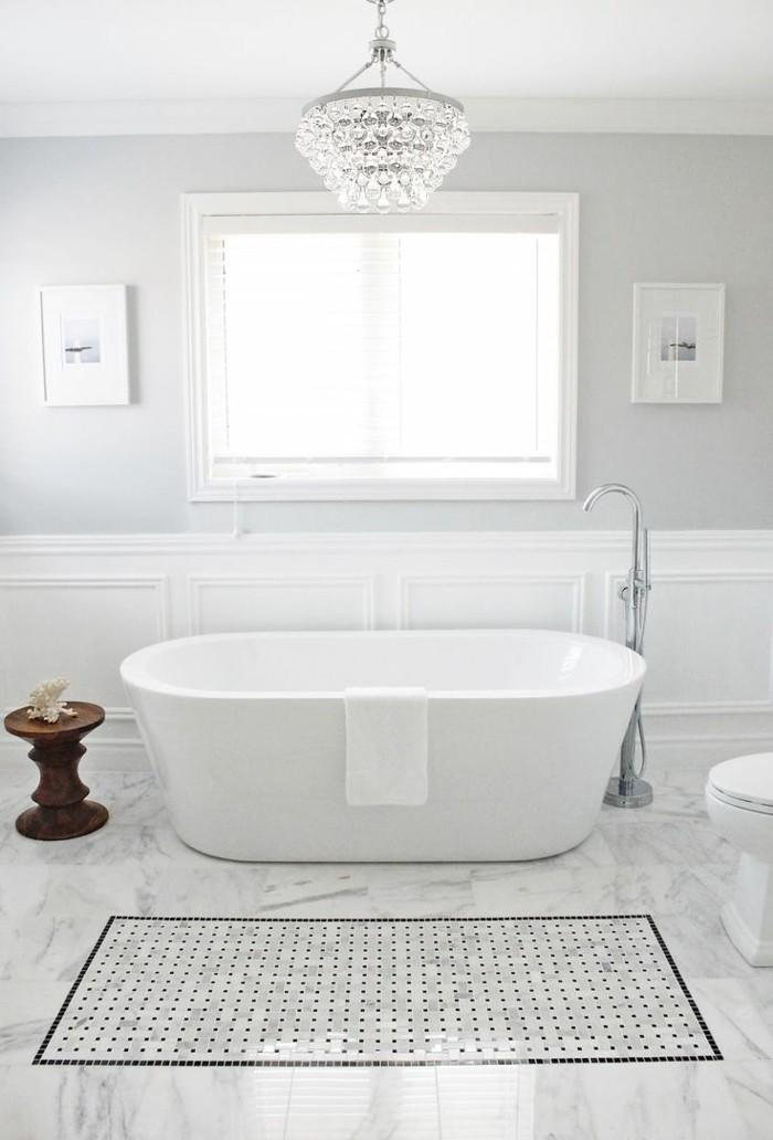 wandgestaltung mit heller wandfare hellgrau im badezimmer
