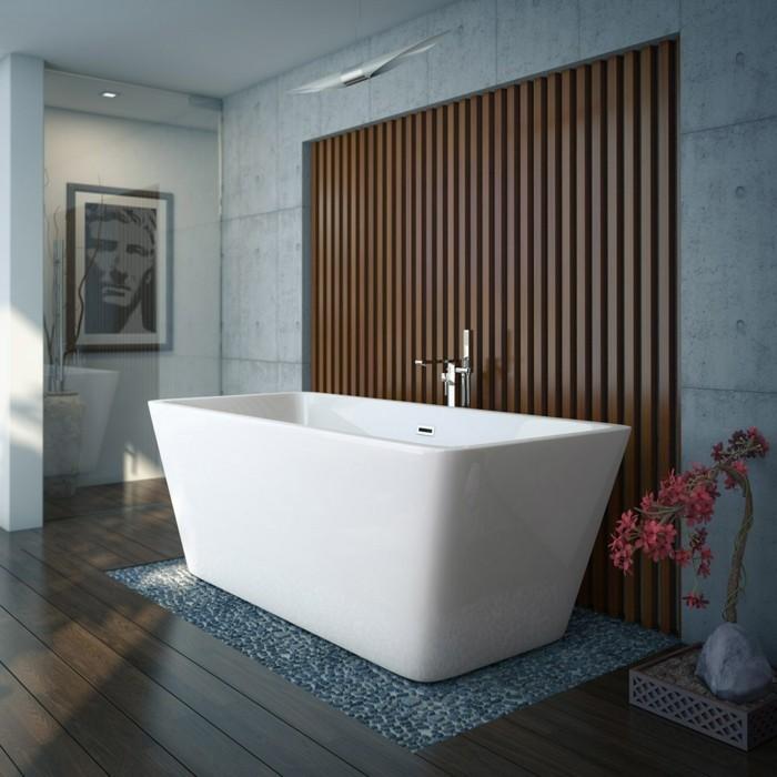 weiße badewanne blauer hintergrund