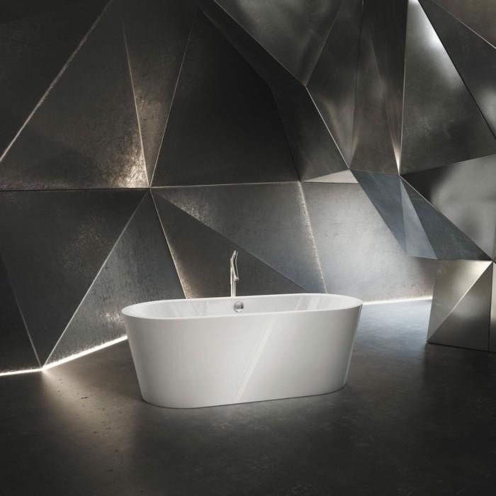 weiße badewanne metallhintergrund