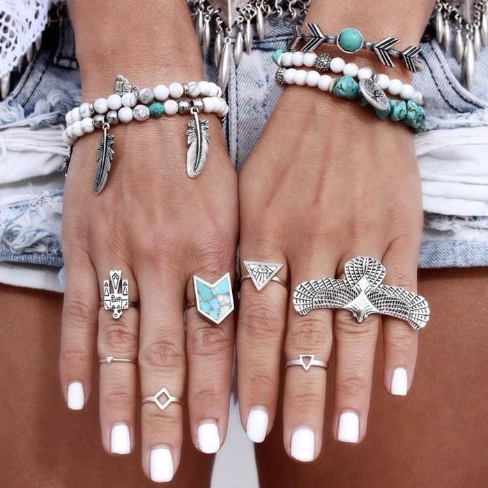 weisse maniküre nagellack sommer nageldesign selber machen