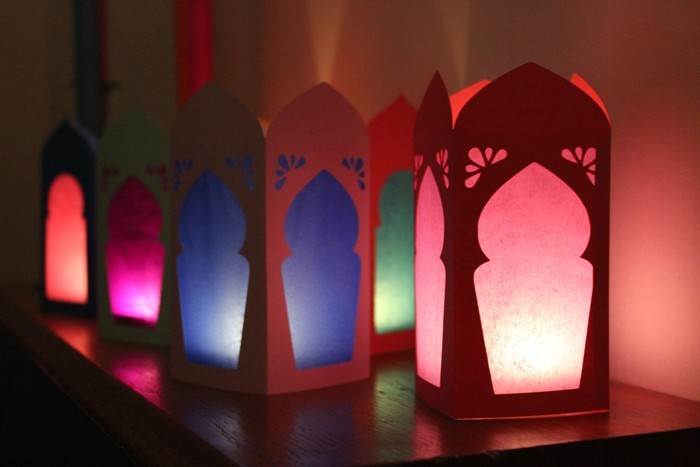 Windlichter Basteln Upcycling Ideen Ausgefallene Gartendeko Selber Machen  Basteln Mit Papier Marokannische Lampen