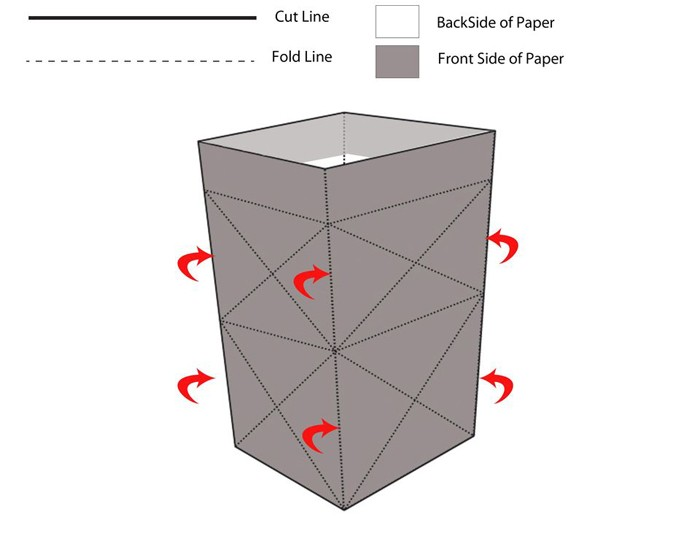 windlichter basteln upcycling ideen ausgefallene gartendeko selber machen basteln mit papier vorlage 5