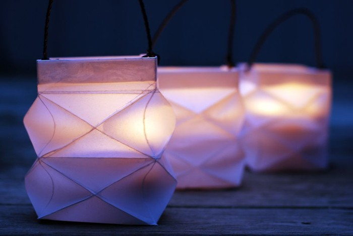 windlichter basteln upcycling ideen ausgefallene gartendeko selber machen basteln mit papier