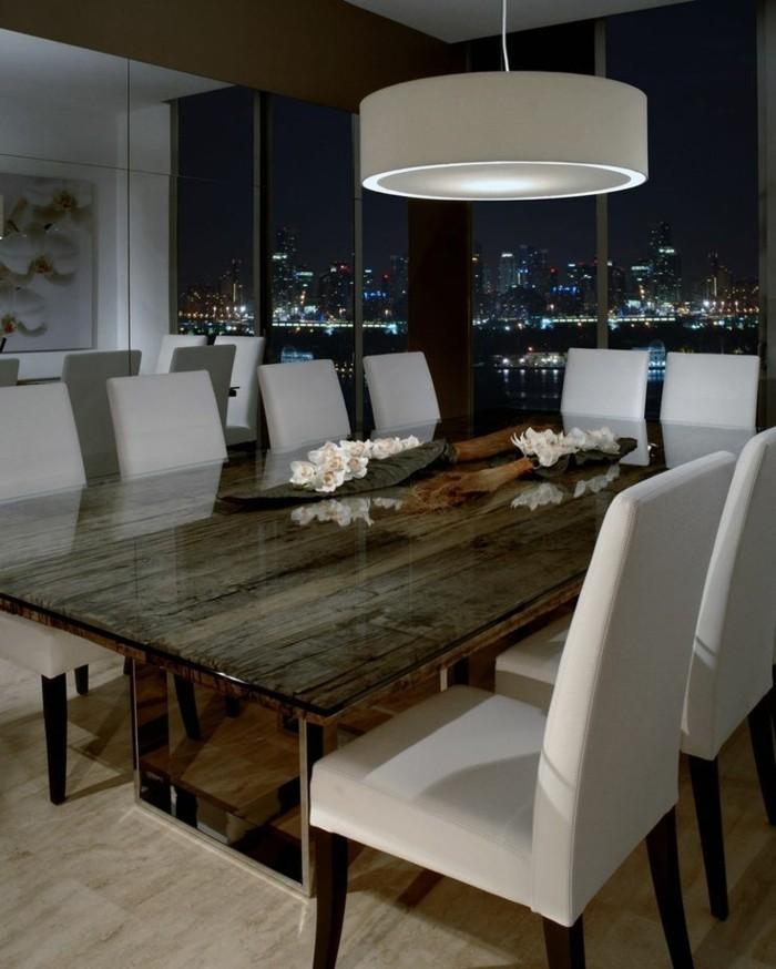 wohnideen esszimmer beleuchtungsideen stilvolle lampe in weiß